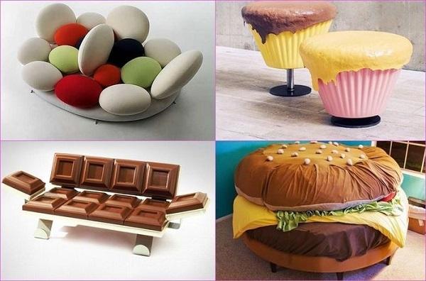 Мебель в виде еды
